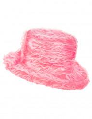 Chapéu pelúcia cor-de-rosa adulto