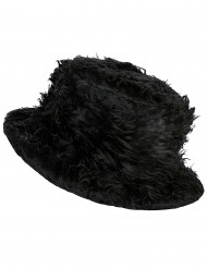 Chapéu pelúcia preto adulto