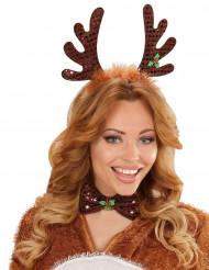 Kit Bandolete e laço rena Natal