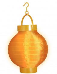 Lanterna luminosa cor de laranja 15 cm