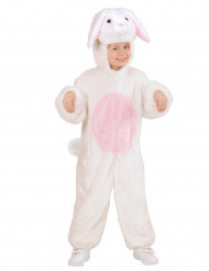 Disfarce de coelho branco e rosa para criança
