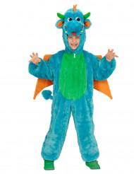 Disfarce dragão azul criança