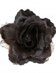Rosa de cor preta para o cabelo para mulher