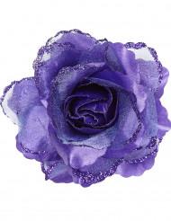 Rosa de cor violeta para o cabelo para mulher