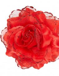 Rosa de cor vermelha para o cabelo para mulher