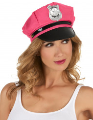 Boné de policia rosa para mulher