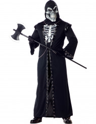 Disfarce esqueleto mórbido adulto Halloween