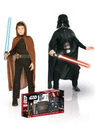 Pack de disfarce de Jedi + Darth Vader para criança - Star Wars™ Croffret