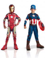 Pack disfarces Iron Man + Capitão América- Avengers 2™- menino