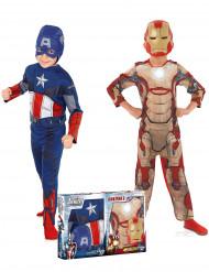 Pack disfarces Iron Man + Capitão América- Avengers™- menino