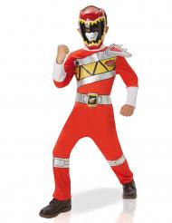 Disfarce clássico de Power Ragers™ Dino Charge vermelho para criança