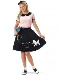 Disfarce anos 50 preto e rosa mulher