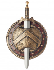 Escudo e Espada Espartano de plástico