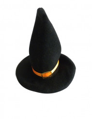 2 Decorações pequenos chapéus de bruxa fita cor de laranja