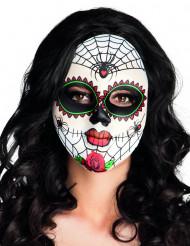 Máscara colorida aranha dia de los muertos