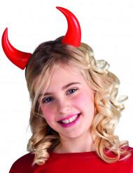 Chifres vermelhos criança Halloween
