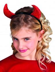 Chiffres vermelhos com purpurinas criança halloween