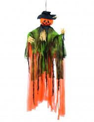 Decoração para pendurar abóbora espantalho Halloween
