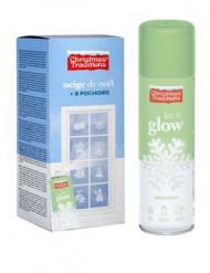 Spray neve falsa fosforescente com stencils Natal