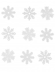 9 Flocos de neve de natal para janela