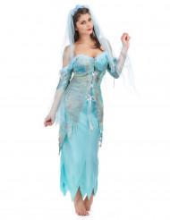 Disfarce sereia turquesa mulher
