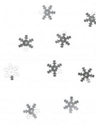 Confetis de mesa flocos de neve prateados