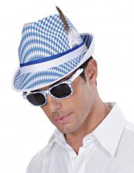 Óculos brancos e azuis Festa da cerveja adulto