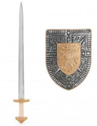 Kit Espada e Escudo para Criança