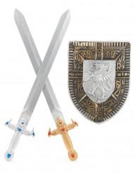 Kit para criança Escudo e 2 Espadas