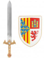 kit de Cavaleiro para Criança Escudo e Espada
