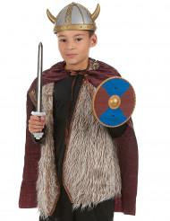 kit viking - espada escudo e capa para criança
