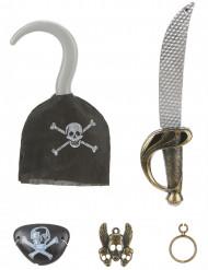 kit de pirata para criança - Sabre crochet insignia pala e brinco