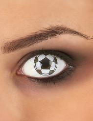 Lentes de contacto fantasia bola de futebol adulto