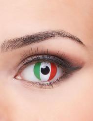 Lentes fantasia bandeira italiana adulto