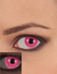Lentes fantasia UV cor-de-rosa adulto