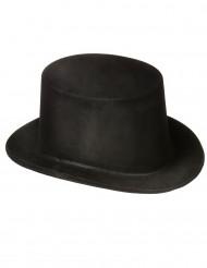 Chapéu Alto Preto para adulto plástico