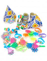 Kit de acessórios de festa coloridos 6 crianças