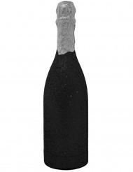 Canhão de confetis garrafa preta brilhante
