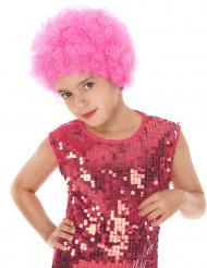 Peruca Disco para Criança cor-de-rosa