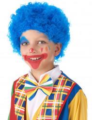 Peruca de palhaço criança azul