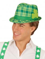 Chapéu verde com trevo São Patrício adulto