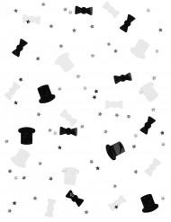 Confetis black and white