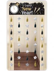 Decoração de porta Happy New Year