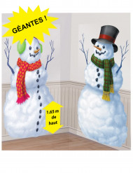 2 Decorações de cartão Boneco de neve