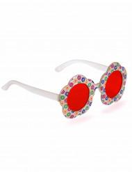 Oculos florido hippie - adulto
