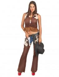 Disfarce de cowgirl para mulher calças
