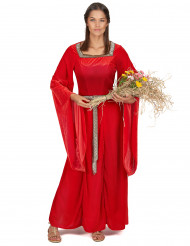 Disfarce de mulher medieval