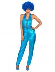 Disfarce conjunto de corpo inteiro Disco Sexy azul