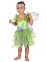Disfarce de fada verde para menina