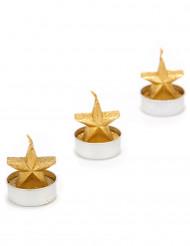 3 Velas estrela dourada Natal